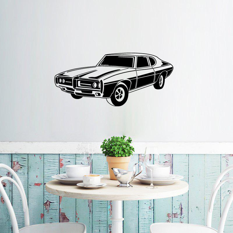 DSU WS0016 Retro Car Simple Art Wall StickersHOME<br><br>Size: 42 X 93CM; Color: BLACK; Brand: DSU; Type: Plane Wall Sticker; Subjects: Fashion,Leisure,Vintage; Function: Decorative Wall Sticker; Material: Vinyl(PVC); Suitable Space: Bedroom,Boys Room,Cafes,Dining Room,Hotel,Kids Room,Kids Room,Living Room,Office,Study Room / Office; Layout Size (L x W): 42 x 93cm; Effect Size (L x W): 42 x 93cm; Quantity: 1;