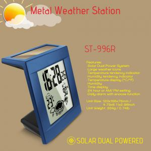 Digital Weather Station Metal Alarm Clock Humidity Monitor Weather Forecaster And Calender -