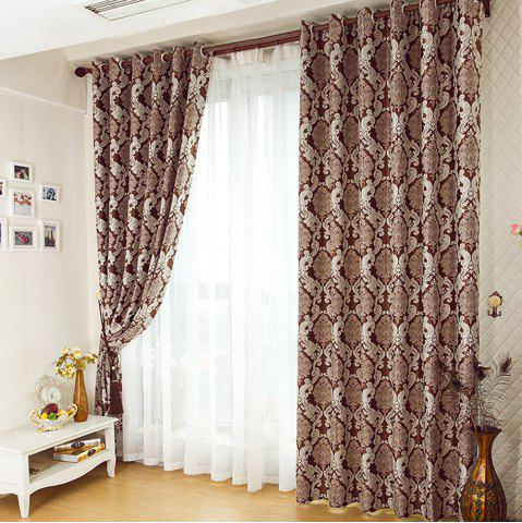 Fashion European Simple Style Jacquard Living Room Bedroom Dining Room Curtain
