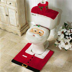 WS0050 Merry Christmas Happy New Year Best Christmas Gift Decorations Bathroom Toilet Seat Carpet -