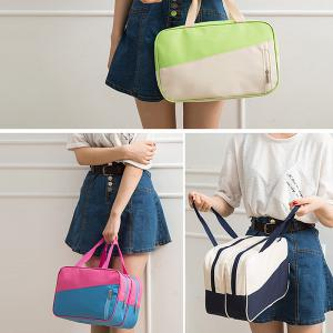 Sac à main pour femme All Match Chic Patch Nylon Color Block Sac à main -