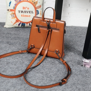Spring Style Retro Fashion Personality Multi-Function Double Shoulder Bag Female Student Bag -