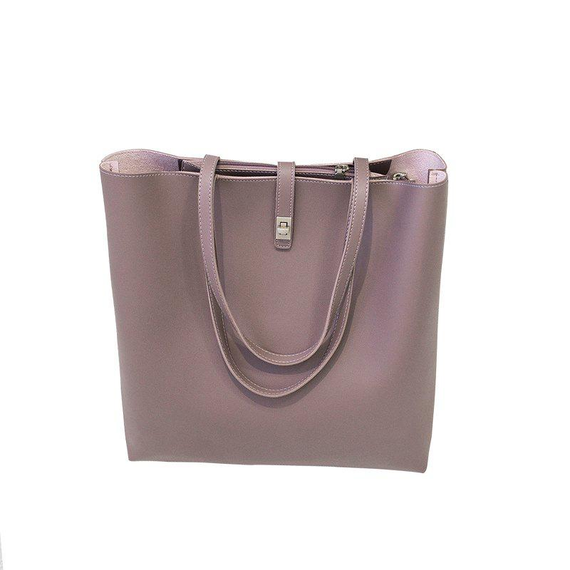 Trendy The New Model of 2017 Simple Women'S Bag with Large Capacity Casual Shoulder