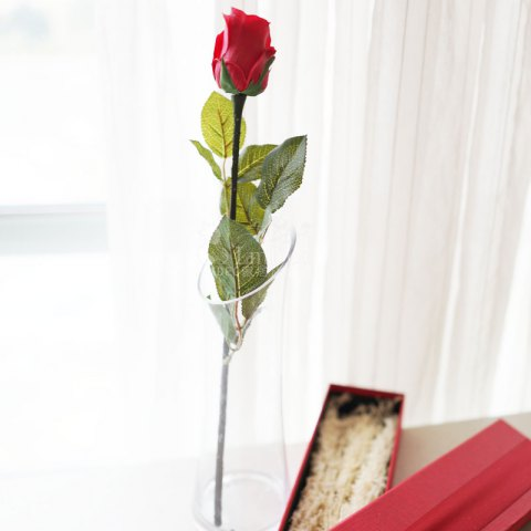 Discount Lmdec FzhPu1701 Decorative Artificial Rose Touch Soft Fake Flower - 1 Head