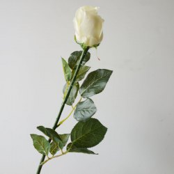Lmdec FzhPu1701 Decorative Artificial Rose Touch Soft Fake Flower - 1 Head -