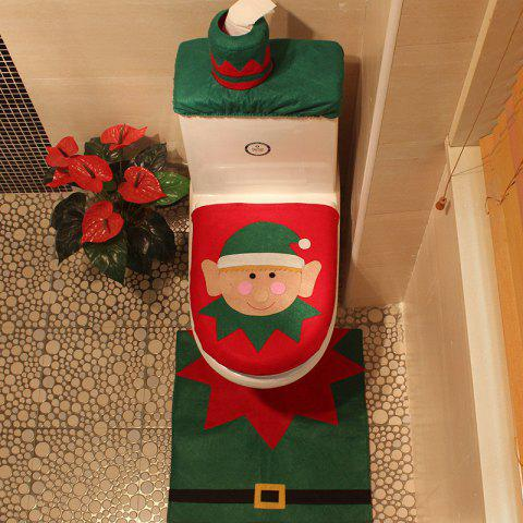Unique Creative Christmas Decoration 3PCS Wizard Toilet Cover Sets