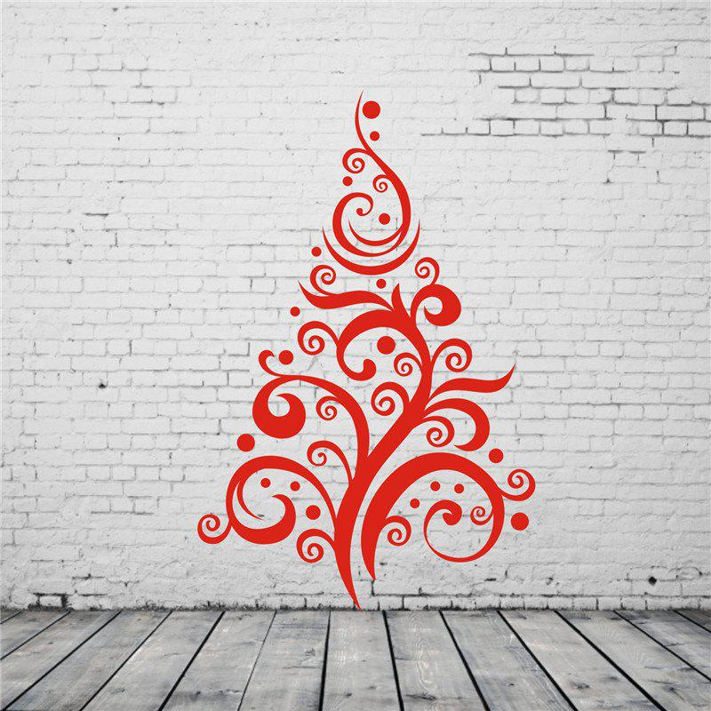 Christmas Tree Pattern Removable Wall StickersHOME<br><br>Color: RED;