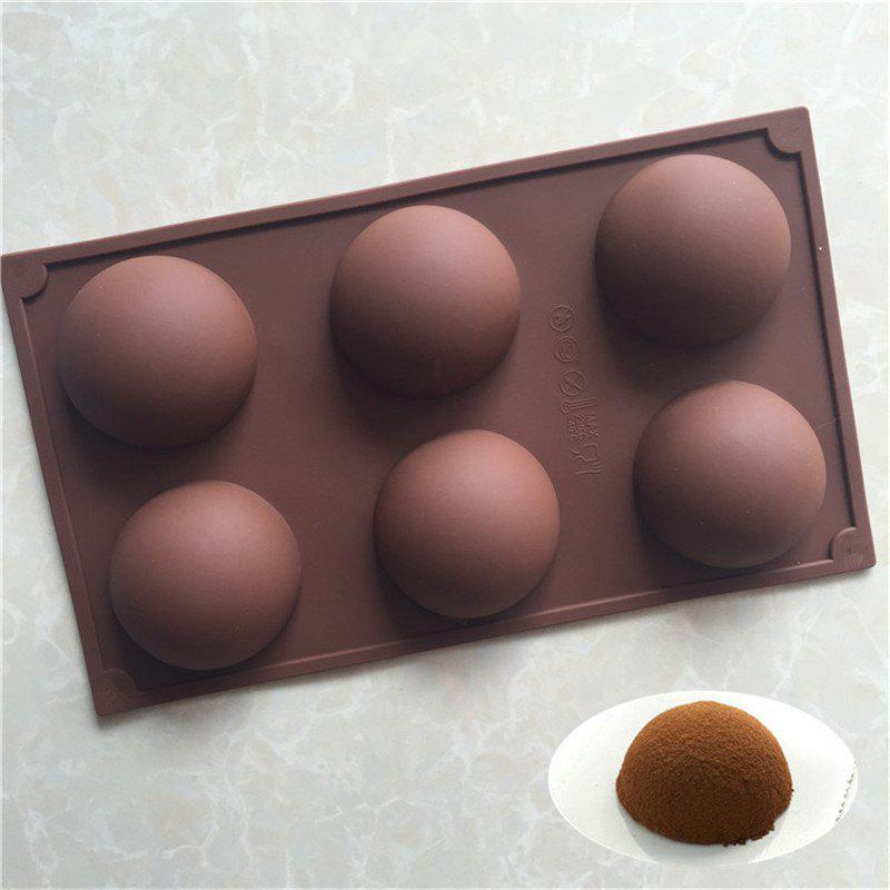 Semicircle Shape Cake Chocolate Baking MoldHOME<br><br>Color: BROWN;