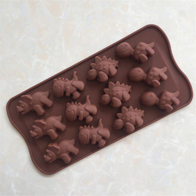 Dinosaur Shape Cake Chocolate Baking MoldHOME<br><br>Color: BROWN;