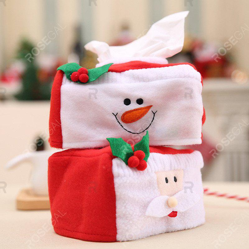 2pcs Snowman and Santa Claus Christmas Tissue Box CoverHOME<br><br>Color: COLORMIX;