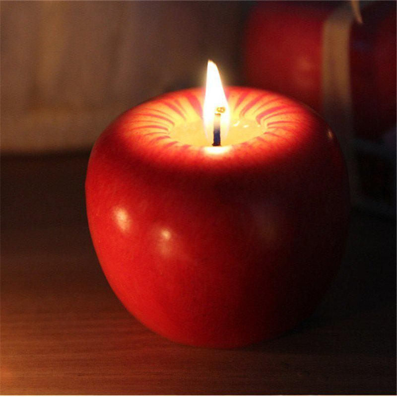 6CM Christmas Apple Candle For Christmas DecorationsHOME<br><br>Color: RED;