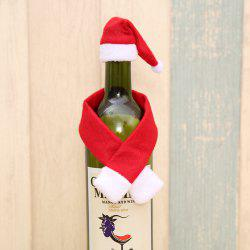 Cute Small Scarf and Hat for  Christmas Bottle Decoration -
