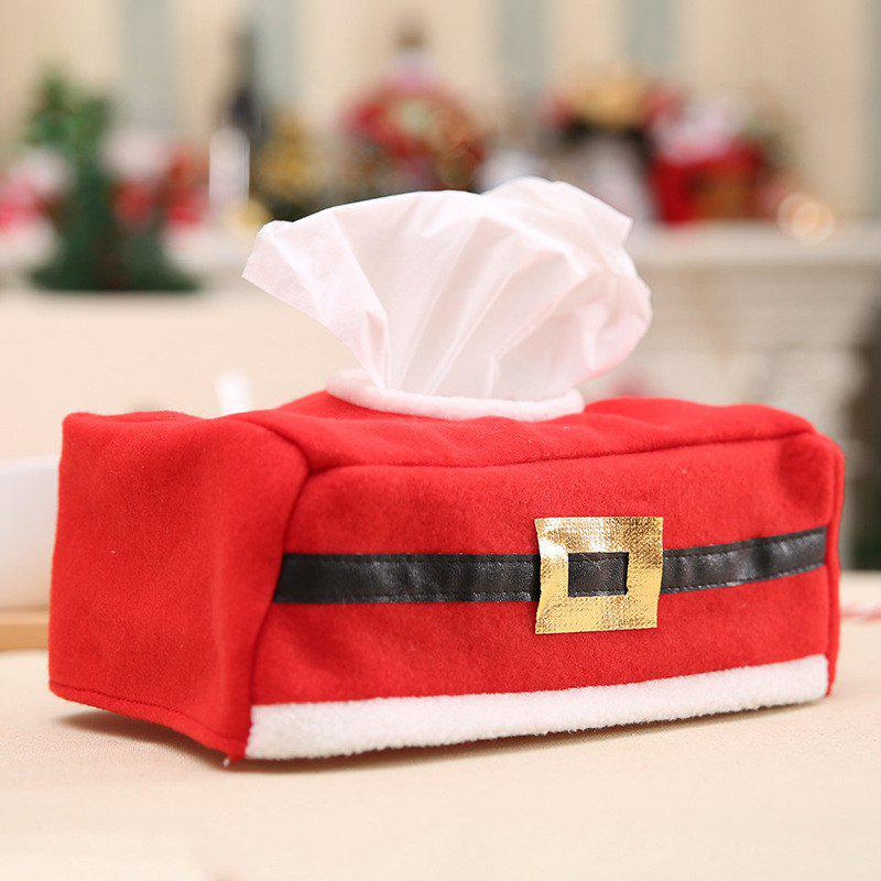 Tissue Box Red Cover Christmas DecorationsHOME<br><br>Color: RED;