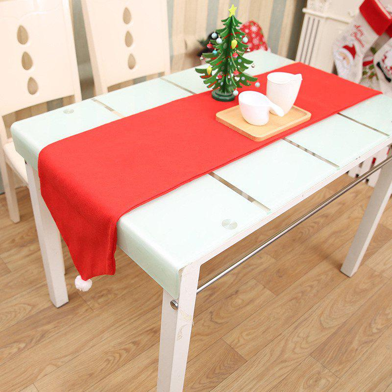 Red Christmas Table Flag Tablecloths for Table DecorationsHOME<br><br>Color: RED;