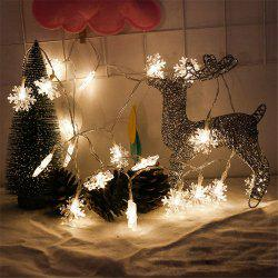 2M 20-LED Snowflake Lights Battery Powered String Lights for Christmas Decoration -