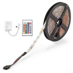 ZDM 5M 24W Waterproof RGB Light LED Strip Light with IR Remote Controller DC12V -