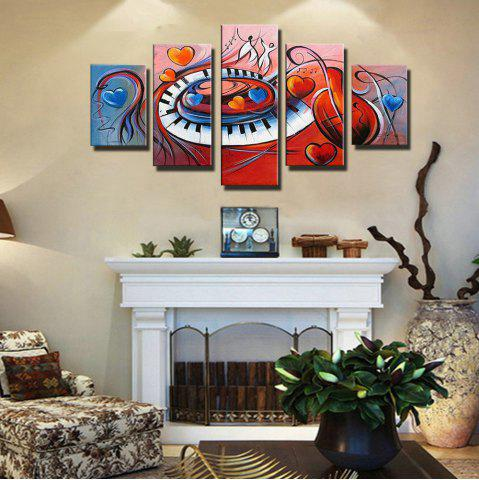 Colorful Hand Painted Abstract Oil Painting Five Frameless Decorative Paintings