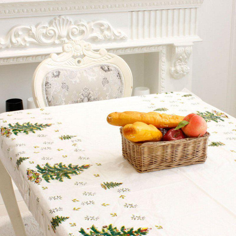 XM 1PCS PVC Christmas Tree Pattern Disposable Tablecloth Holiday DecorationsHOME<br><br>Color: WHITE;