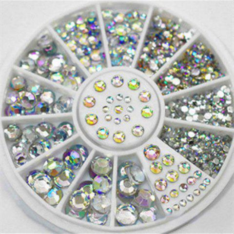 Unique 4 Size 300pcs Nail Art Tips Crystal Glitter Rhinestone Decoration