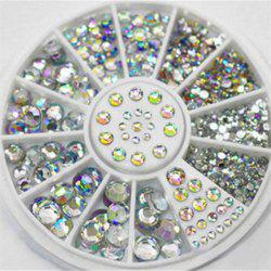 4 Size 300pcs Nail Art Tips Crystal Glitter Rhinestone Decoration -