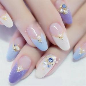 Nail Art Decoration Rhinestone Bordure Pearls Makeup Cosmetic Nail Art Design -