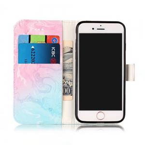 Wkae Marble Leather Wallet Stand Case Cover for iPhone 7 / 8 -