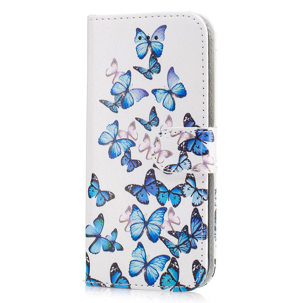 Outfits Wkae Marble Leather Wallet Stand Case Cover for iPhone 7 / 8
