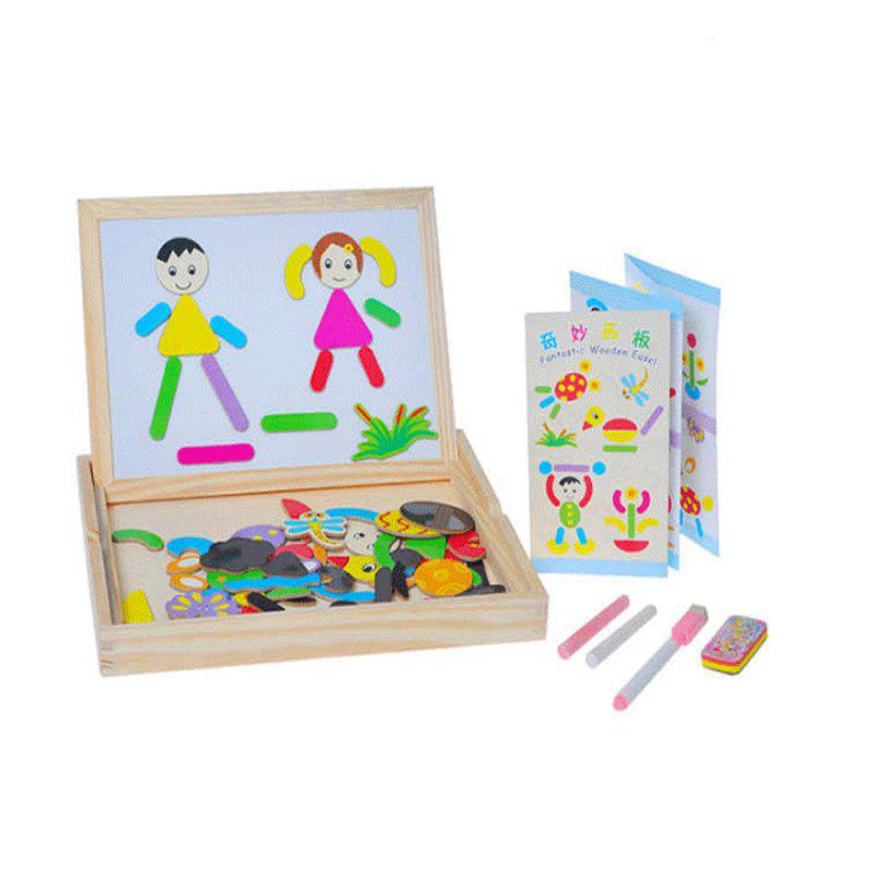 Double-sided Black White Board Animal Puzzle SetHOME<br><br>Color: COLORFUL; Type: Jigsaw Puzzle,Magnetic; Gender: Boys,Girls; Theme: Animals,Fantasy and Sci-fi; Style: Cartoon; Materials: Wood; Stem From: Other;