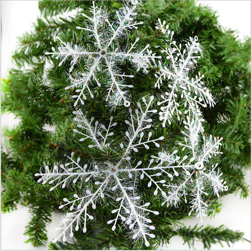 WS 30PCS/SET Snow Flakes White Snowflake Ornaments Holiday Tree Decortion Festival Party Home D?Cor ChristmasHOME<br><br>Color: SNOW WHITE; Material: Plastic,PVC; For: All,Kids,Others; Usage: Christmas,Party,Stage;