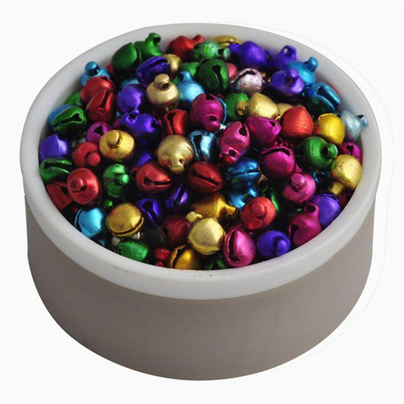 WS Loose Beads Color 200 PC 8 Mm / A Lot of Small Jingle Bells Christmas Gift Wholesale SupplyHOME<br><br>Color: MULTI; Material: Metal; For: All,Kids,Others; Usage: Christmas,Halloween,Party,Stage,Valentine Gift,Wedding;