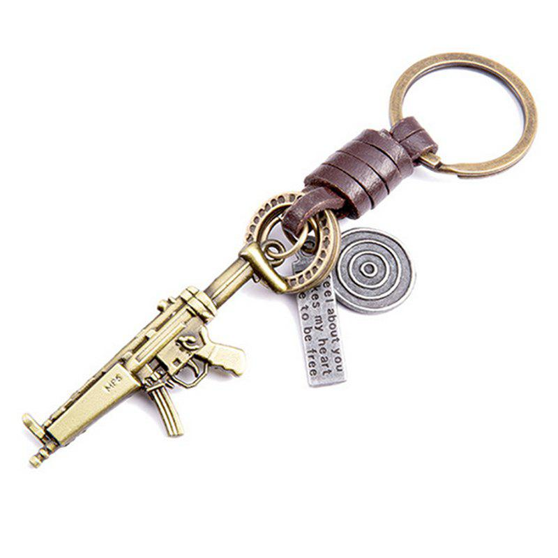 Mens Key Ring Personality Unique Design Brief Durable Key Ring AccessoryJEWELRY<br><br>Color: BRONZED;
