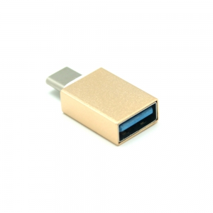 Mini Smile Aluminum Alloy USB 3.1 Type-C To Micro USB with USB 3.0 OTG Adapters -