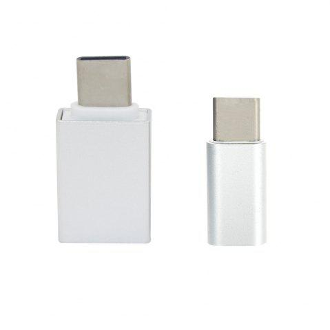 Store Minismile Aluminum Alloy USB 3.1 Type-C to Micro USB with USB 2.0 OTG Adapters