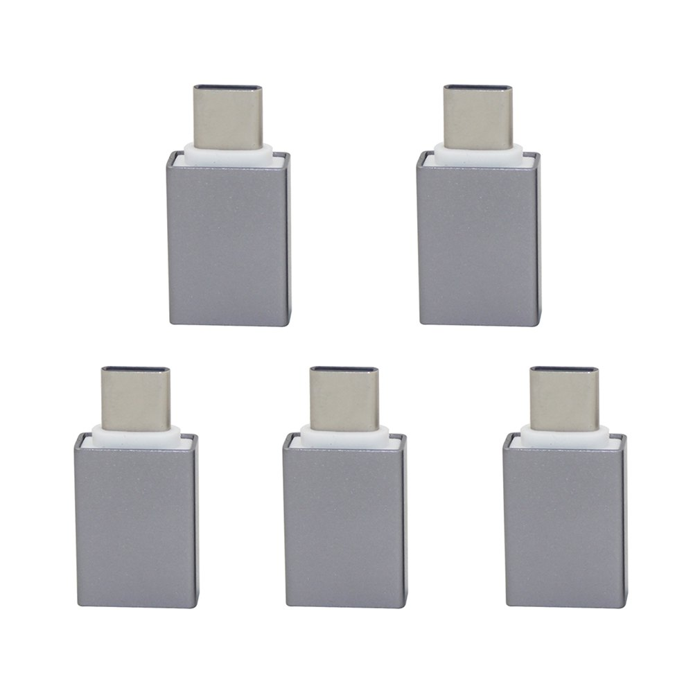 Mini Smile 5PCS USB 3.1 Type-C Male To USB 3.0 Female OTG Adapters ConvertersHOME<br><br>Color: GRAY;