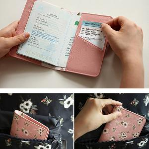 Travel Document Organizer Flower Animal Pattern Passport ID Card Storage Bag -