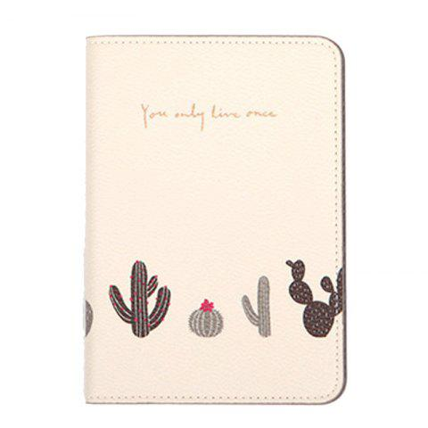Organisateur de document de voyage Flower Animal Pattern Passeport ID Card Sac de rangement