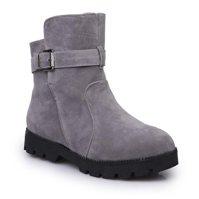 2017 New Cotton Plus Warm Anti-Skid Snow BootsSHOES &amp; BAGS<br><br>Size: 41; Color: GRAY;