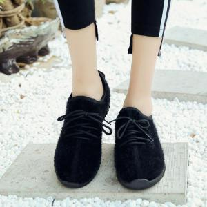 2017 New Lace Suede Confortable Souliers -