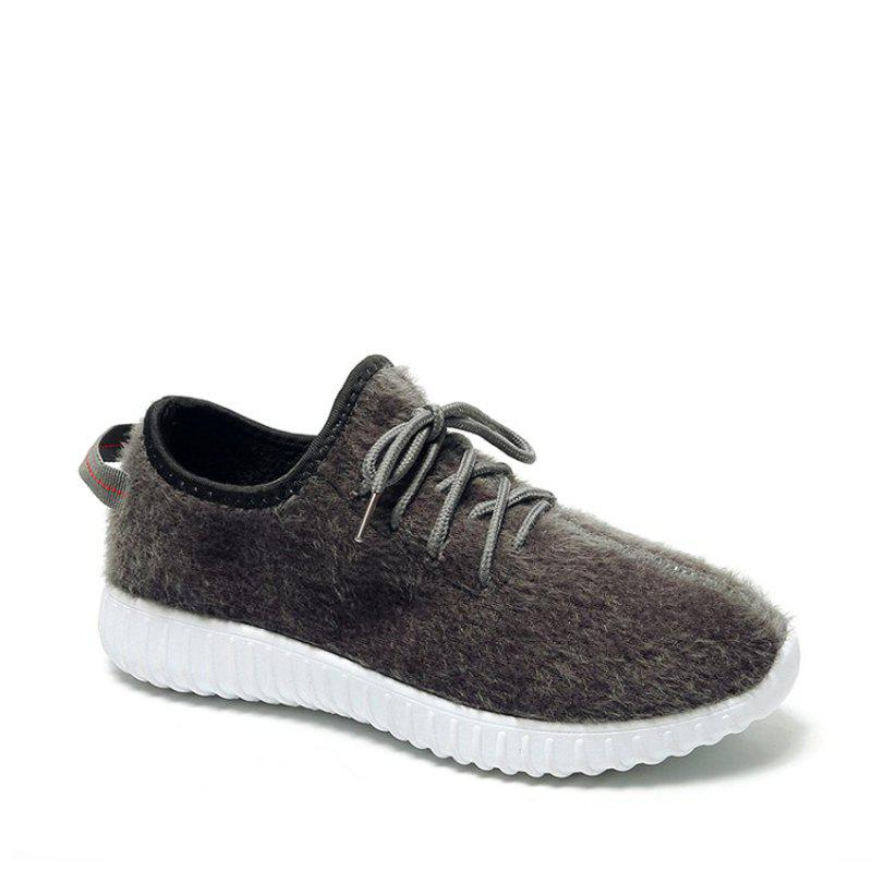 Store 2017 New Lace Suede Comfortable Casual Shoes