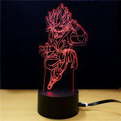 M.Sparkling TD288 Creative Superhero 3D LED Lamp - Colorful