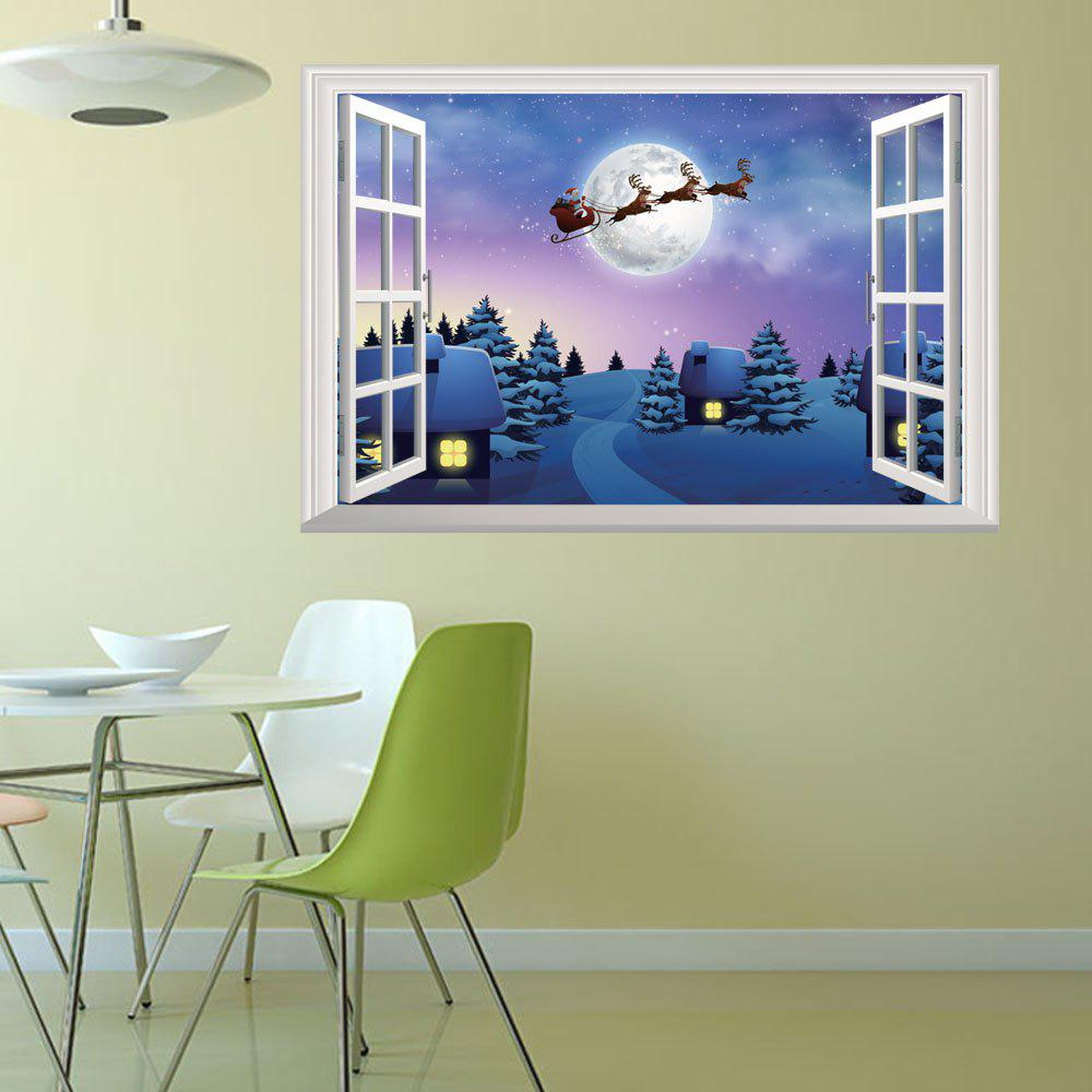 2018 New Christmas Stickers 3D Window Home DecalHOME<br><br>Color: COLORMIX; Type: 3D Wall Sticker; Subjects: Holiday; Art Style: Toilet Stickers; Sizes: Others; Color Scheme: Others; Artists: Others; Function: 3D Effect,Decorative Wall Sticker; Material: Vinyl(PVC); Suitable Space: Bedroom,Living Room; Layout Size (L x W): 72 x 50cm; Effect Size (L x W): 72 x 50cm; Quantity: 1;