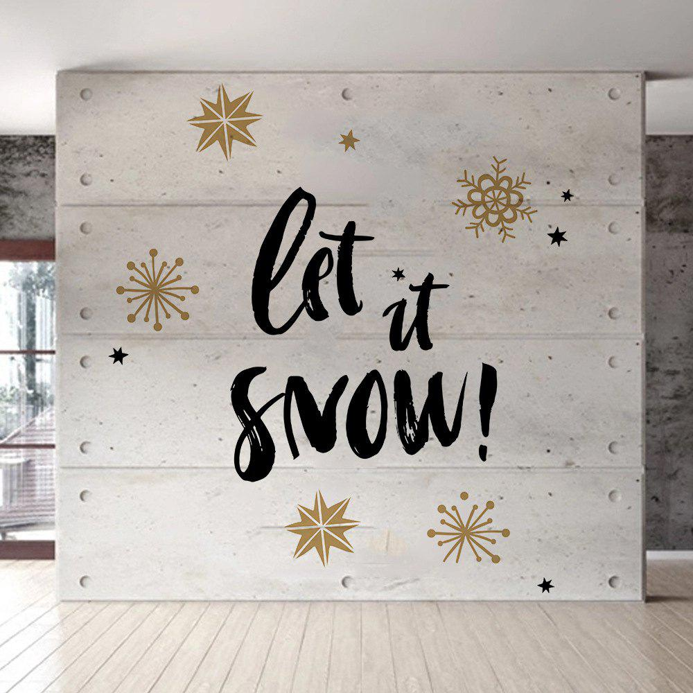 cheap d065 christmas wall stickers snowflake dual color diy home decal - Christmas Wall Decal