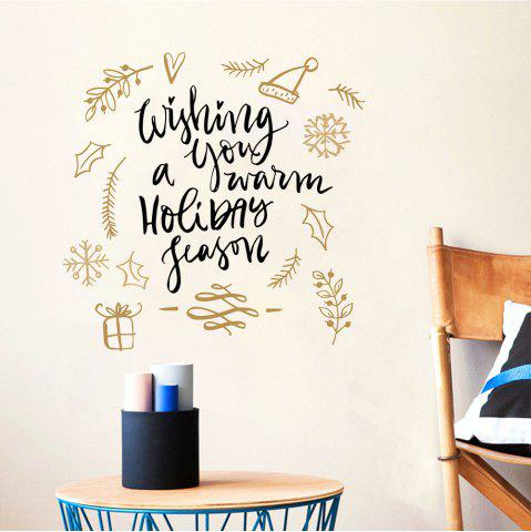 Affordable Merry Christmas Wall Sticker Wishing You A Warm Holiday Season  Vinyl Wall Decals