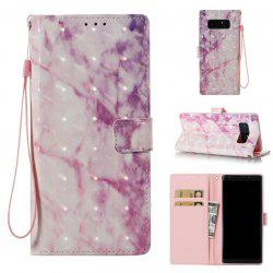 3D Marble Pattern Painted Pu Phone for Samsung Galaxy Note 8 -