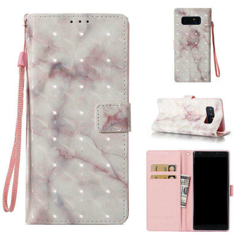 Outfit 3D Marble Pattern Painted Pu Phone for Samsung Galaxy Note 8