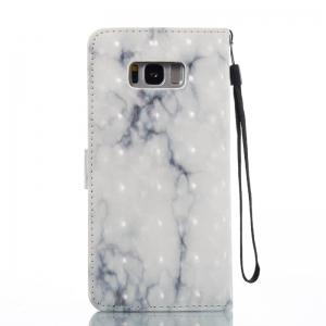 3D Marble Pattern Painted Pu Phone for Samsung Galaxy S8 Plus -