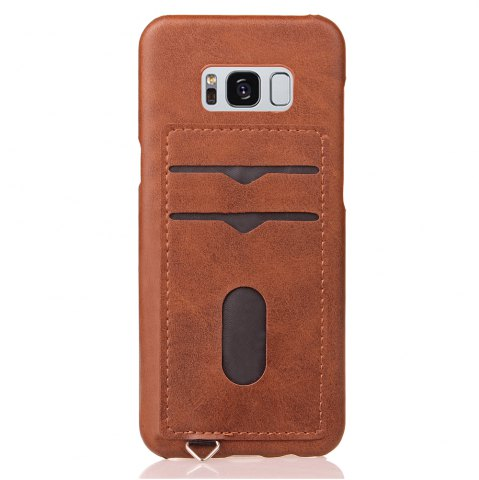 Unique Simple Stripes Card Lanyard Pu Leather for Samsung S8 Plus