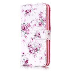 Wkae Color Printing Relief 9-Card Pu Leather Flip Stand Case for iPhone 8 Plus / 7 Plus -