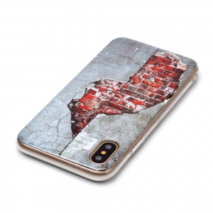 Wkae Doux TPU Couleur Impression Protection Shell pour iPhone X -