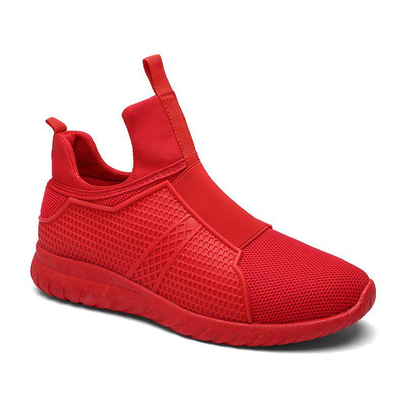Fashion Weaving Sports Casual Tide Coconut Shoes Youth TrendSHOES &amp; BAGS<br><br>Size: 43; Color: RED;